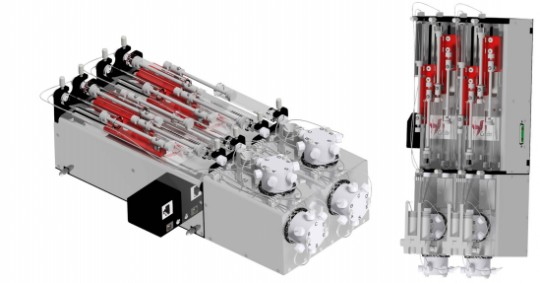 Syringe pump system double